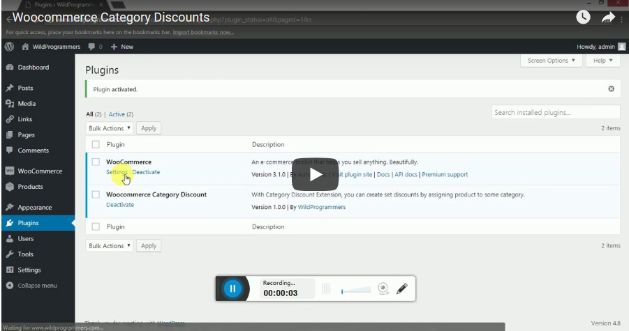 WooCommerce Category Discount - 2